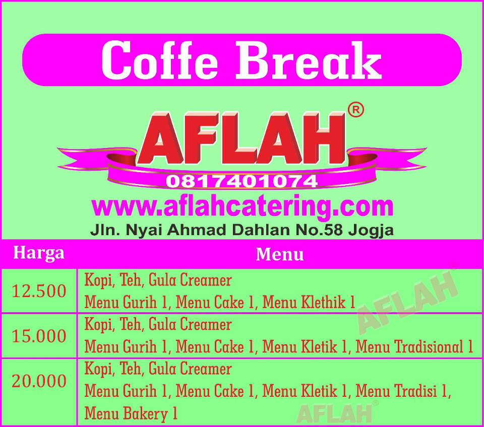 paket coffe break prasmanan jogja