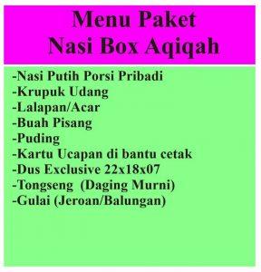 aqiqah yogya no 1 -  menu paket nasi box aqiqah yogya